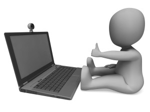 Web Cam Shows Video Online Conferencing And Communicating