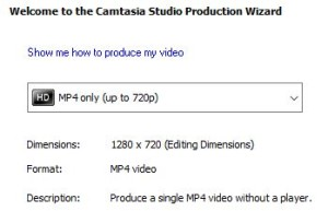 Dimensions for production of video