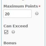 Extra Points on an Assignment in D2L